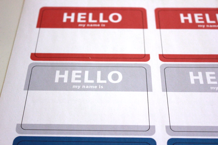 Hello name sticker 2